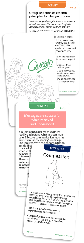 Selection of Change Design Principle Cards
