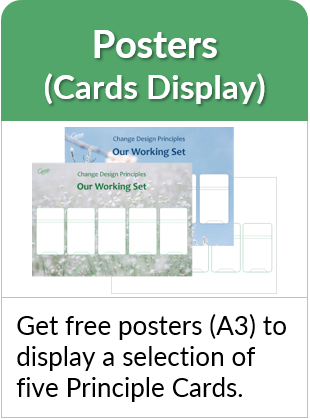 Get free posters (A3 size) to display a selection of five Principle Cards.